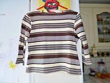 T-shirt haut à manches marron de marque MANOUKIAN  femme taille M 38 TBE