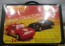 Vintage 1983 Matchbox Official Collectors Carry Case Holds 24 Cars <> w/ 8 cars