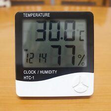 New LCD Digital Thermometer Temperature Humidity Meter Hygrometer Clock HTC-1