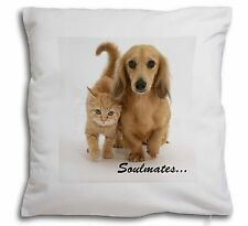 Dachshund and Kitten 'Soulmates Soft Velvet Feel Cushion Cover With, SOUL-29-CPW