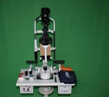 MIKO 2 step slit lamp bio Microscope with power source ,Wooden base I