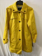 London Fog Women's Yellow Trench Coat, Lemon, size XL  NWT