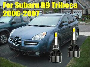 LED For Subaru B9 TRIBECA 2006-2007 Headlight Kit H7 White CREE Bulbs Low Beam