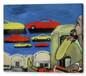 South Beach Miami Florida Surreal Flying Cars Art Deco Modern Surrealism Artwork