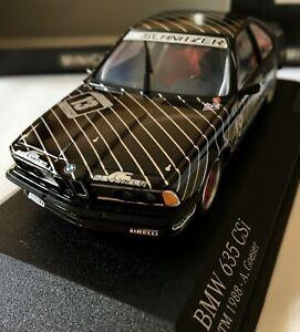 BMW 635 CSI DTM 1988 AC SCHNITZER A.GOESER MINICHAMPS 430882613 1/43 SCALE
