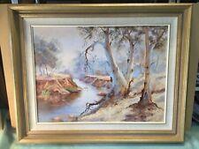 Australian Landscape Signed Oil Painting