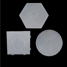 5MM Clear Square Large Pegboards Board For Hama Fuse Perler Beads Natural