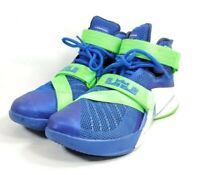 Nike Athletic Shoes Mid Top 749417 Men's Size 8 Blue Mesh Green Trim (sb11ep)
