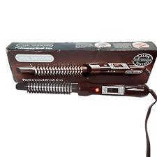New listing VINTAGE VIDAL SASOON VS-111 Professional CURLING BRUSH IRON with box 1983 WORKS