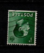 Vintage Gb Edward Viii 1/2d green Inverted watermark