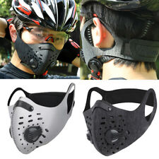 2PCS Outdoor Sports Anti Haze PM2.5 Filter Mouth Mask Face Cover with Valve
