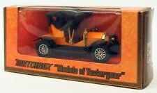 Matchbox Models Of Ysteryear Model Car Y-4 - 1909 Opel Coupe - Orange Black
