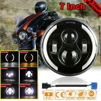 "7""  LED Round Headlight Motorcycle Halo DRL LED Driving Light For Cafe Racer"