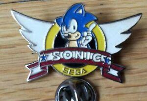 rare pin's lapel pins vintage SEGA SONIC (EOLE) argenté