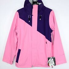 Volcom Erosion Womens Size Small Insulated Snowboard Jacket Pink