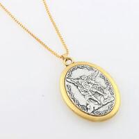 St. Michael Archangel Catholic Patron Saint Medal Metal Chain Pendant Necklace