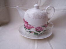 Tea for one aus Brilliantporzellan -  * Rose rosa *  ORIGINAL Jameson & Tailor
