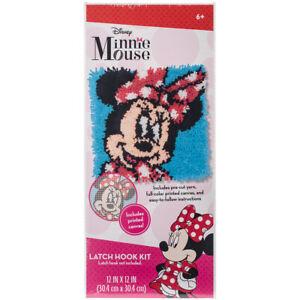 "Dimensions Disney Latch Hook Kit 12""X12""-Minnie Mouse"