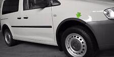 VW CADDY 2K Radlauf Zierleisten SCHWARZ MATT satz 4 Stück Vorne Hinten Bj 03-10