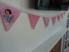 GIRLS A PRINCESS themed fabric play bedroom bunting 7 FLAG bedding wallhanging