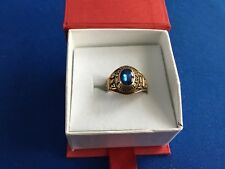 10k Yellow Gold W Virginia High School Ring With Blue Stone Size 7