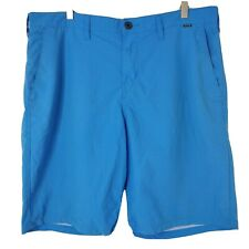 New listing Hurley With Nike Dri-Fit Mens Size 36 Blue Flat Front Board Shorts