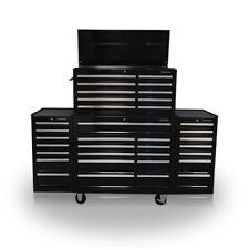 """422 US PRO Tools Black Tool Chest Box Snap Up 2 side cabinet 75"""" finance option!"""