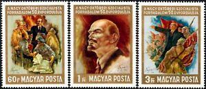 (Ref-14743) Hungary 1967 October Revolution 50th Anniv.  SG.2313/2314 Mint (MNH)