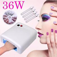 36W Pro Nail Dryer Polish Lamp LED UV Gel Acrylic Curing Light Spa Kit & 4 Tubes