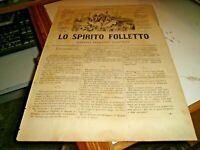 Revista Satírico lo Espíritu Kobold Sonzogno N.913 Del 28/11/1878 Illustrata