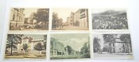 Antiquarian postcards of different European cities