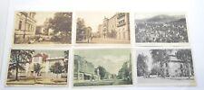 Antiquarian postcards of different European cities