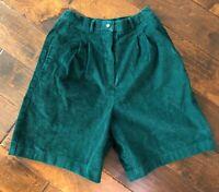 Women's Green Corduroy Shorts Size 10
