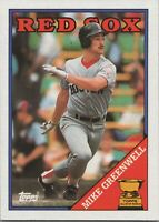 Mike Greenwell All Star Rookie 1988 Topps Baseball Card #493 Boston Red Sox