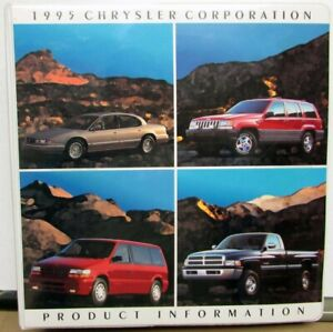 1995 Chrysler Corperation Dealers Album Jeep Plymouth Dodge Eagle