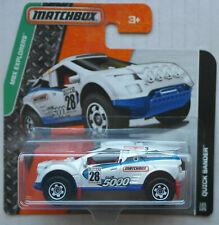 Matchbox Quick Sander weiß/blau Neu/OVP Geländewagen Auto Car Mattel MBX Rallye