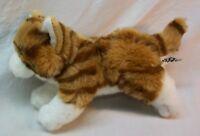 "Toys R Us ORANGE & WHITE TABBY CAT 10"" Plush STUFFED ANIMAL Toy"