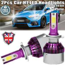 2x LED H7 Car Headlight 440W Upgrade Hi Low Beam Bulbs Kit 6000K for Ford Focus