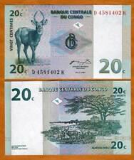 Congo D. R. 20 centimes, 1997, P-83 UNC > Antelope