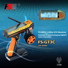Flysky FS-GT3C 2.4G 3CH Trasmettitore Ricevitore Radiocomando Per RC Auto S6T2