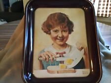 Vintage Norman Rockwell 1975 The Butter Girl collectors tray