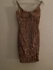 ROSE GOLD SEQUIN DRESS M NEW STRAPPY SPARKLY PARTY XMAS EVENING SUMMER GLAM CUTE
