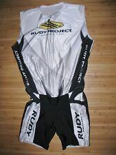 Rudy Project Tri Skin Suit Size 2Xl Xxl Zip Zipper Front Triathlon Trisuit