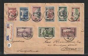 Irak toller Brief Einschreiben R-Brief Bagdad nach Bern/Schweiz, 1919