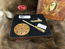 Case Nwtf Mini Trapper Knife With Bone Handles & Accessories - Mint In Tin