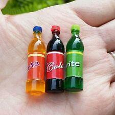 Maison de Poupées Ensemble de 3 boissons gazeuses bouteilles échelle 1:12