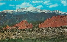 Pikes Peak Garden of the Gods Coloado Postcard