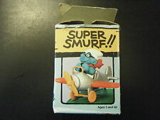 6733 (4.0222) SUPER SMURF – AIRPLANE - NEW IN DAMAGED W. BERRIE BOX
