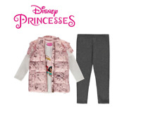 Ensemble Doudoune+Tee-shirt+Jogging Disney les princesses du 2 au 10 ans