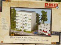 Piko 61146 H0 DDR Ostblock Plattenbau-Haus WBS70 Bausatz sehr gut in OVP